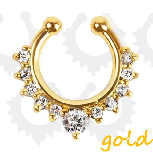 11613-c998b44e0efbdcec8f419392552676d3 Detailed Costume Fake Septum Clicker With Rhinestone Crystals