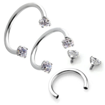 Dramatic Septum Ring Jewelry With Rhinestone Screw Tips