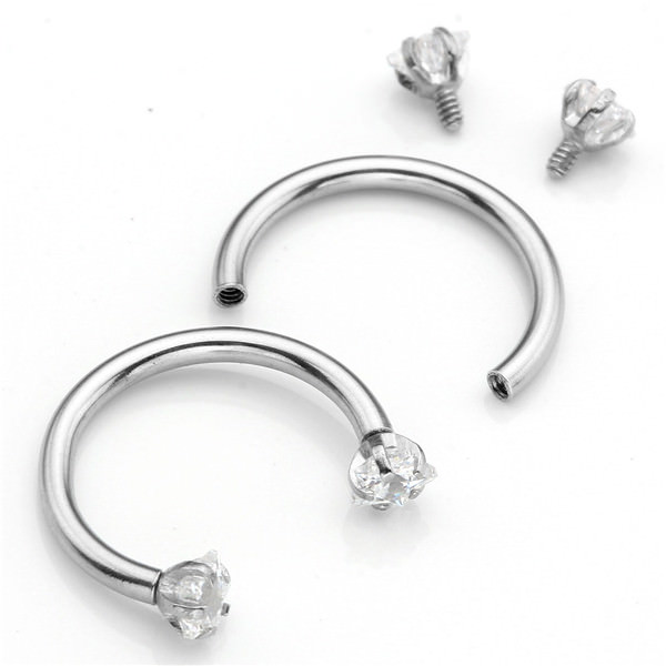 11617-949fd23a7b7adb944c2d7a6cc251333e Dramatic Septum Ring Jewelry With Rhinestone Screw Tips