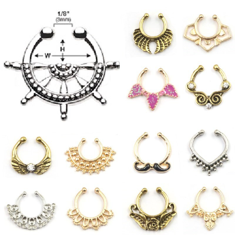 11620-1d13ec80a1fa06d1f1bbc1c2ab236407 New Design Extravagant Fake Nose Ring Clicker Jewelry For Women