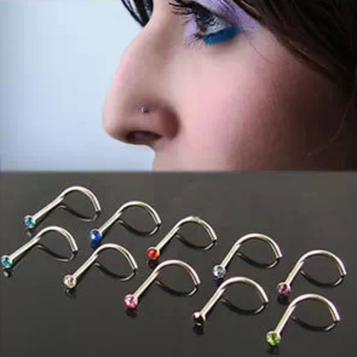 11627-00dc8b1f3613cbd050088f362c705213 10pcs/lot Assorted Color Rhinestone Nostril Screw Jewelry