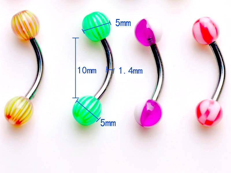 11628-27273296214477af9f4cf80ecc66faf8 60pcs/set Mix Funky Colorful Acrylic & Stainless Steel Piercing Jewelry