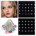 60pcs/set Mix Funky Colorful Acrylic & Stainless Steel Piercing Jewelry