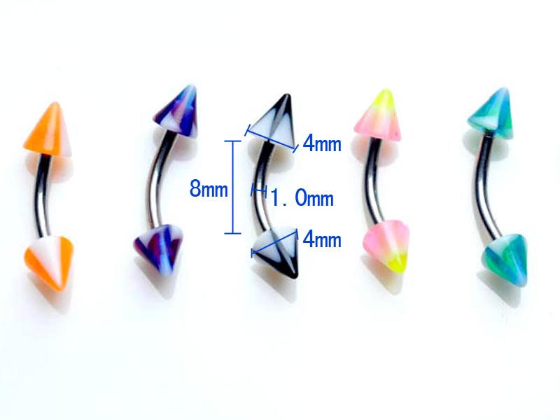11628-5ef4e4a842f175a0fa46aec3ed92a8fc 60pcs/set Mix Funky Colorful Acrylic & Stainless Steel Piercing Jewelry