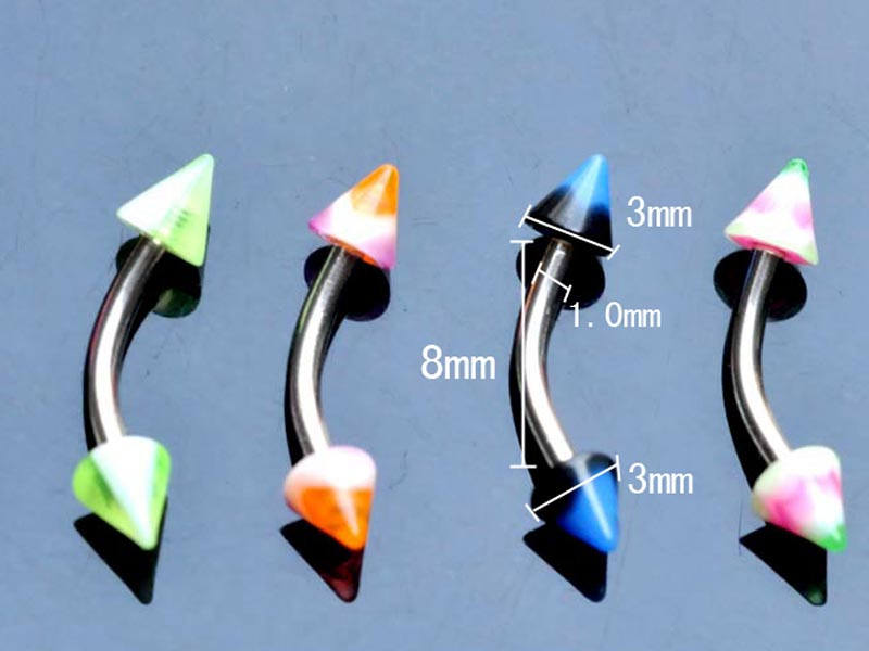 11628-ffa003412b2f99eec9c331a7e423c147 60pcs/set Mix Funky Colorful Acrylic & Stainless Steel Piercing Jewelry