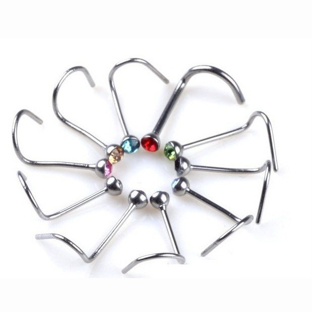11631-5718f17a7a4f87599ef3c9689e2bccbe 20pcs/lot Simple Crystal Nose Screw Jewelry In Various Colors