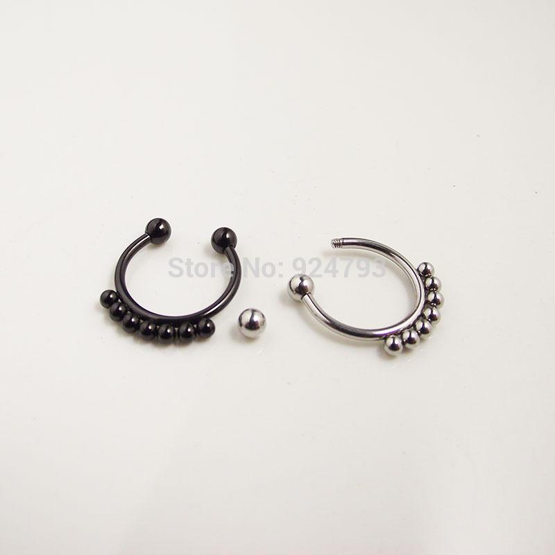 11633-edb4772c4e13220977326359fd57a176 Punk Gothic Fake Septum Ring Jewelry In Black / Silver / Gold