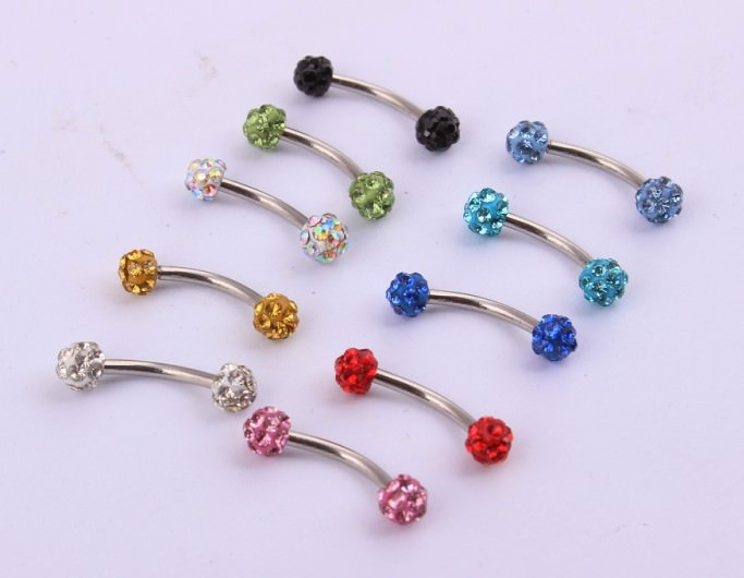 11637-2de2fc0ae43a14c260cd8f8c82cdc175 Adorable Curved Barbell Nose Ring Body Jewelry With Rhinestones