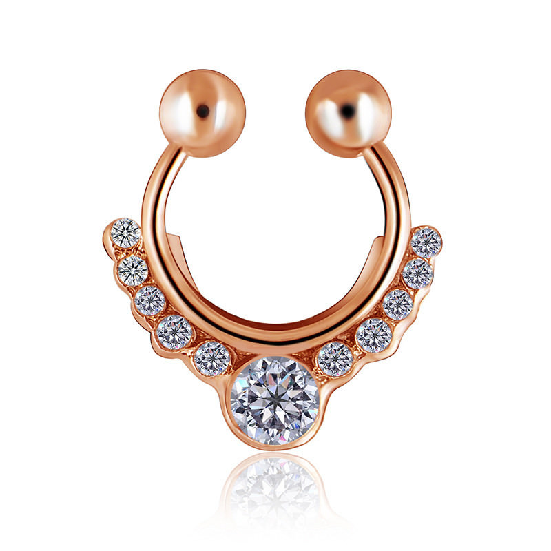 11638-92e2d889bef8caab94a506069770c652 Glamorous Fake Nose Septum Ring With Crystal Accent