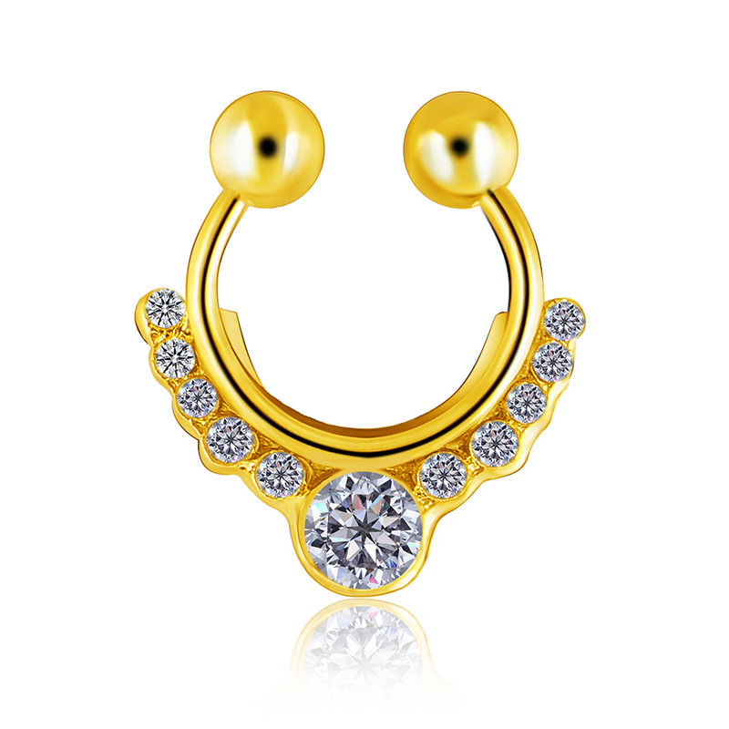 11638-9c4ee196ac27dcc23efa4b8daa8a1201 Glamorous Fake Nose Septum Ring With Crystal Accent