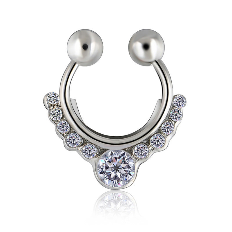 11638-eec36e9acc9a781362294f25ec995597 Glamorous Fake Nose Septum Ring With Crystal Accent