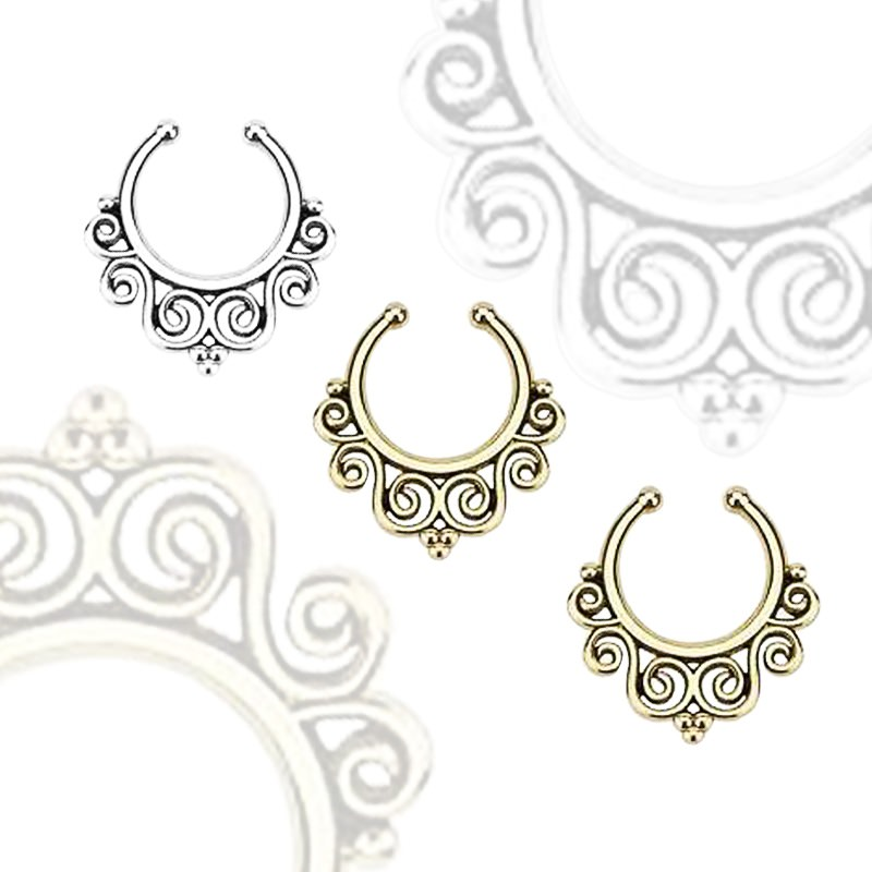 11639-613d6fe6c006409ac91101825be0d023 Vintage Classic Filigree Designed Faux Septum Ring Jewelry For Women