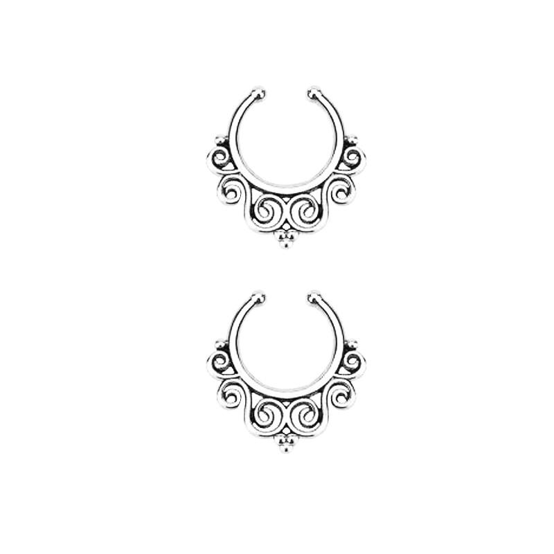 11639-beda8da08ccfab599d2f68b1306a6b7b Vintage Classic Filigree Designed Faux Septum Ring Jewelry For Women