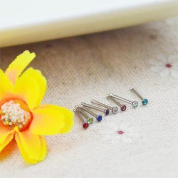 Set Of Rhinestone Crystal Bone Or Stud Type Body Piercing Jewelry
