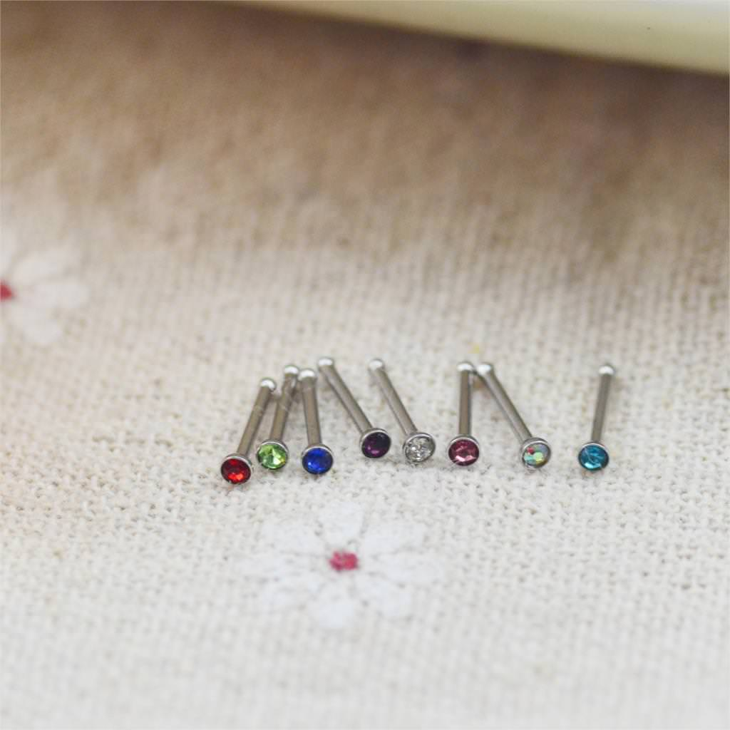11640-e5b2af9533f686bca471a192322c4fa7 Set Of Rhinestone Crystal Bone Or Stud Type Body Piercing Jewelry