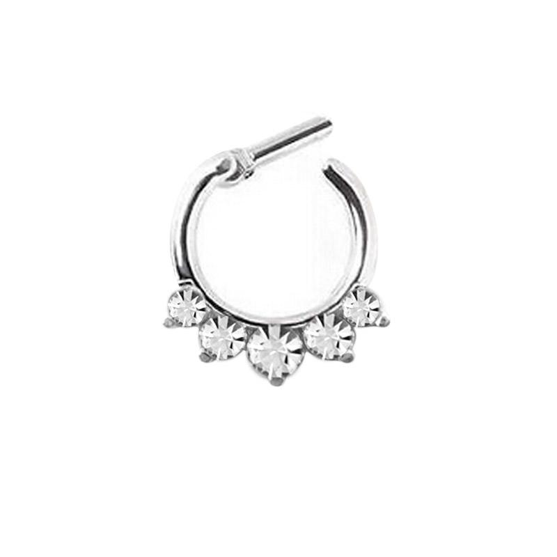 11642-6da2eaf9db04f9a96e0af3b3dbffd893 Stunning Rhinestone Crystal Septum Clicker Ring Jewelry