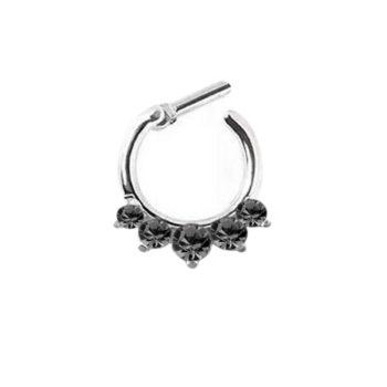 Stunning Rhinestone Crystal Septum Clicker Ring Jewelry