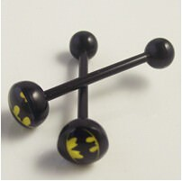 11643-6a1304aa0459f7e03a9411b61333978e Soft Black Popular Logo Designed Labret Or Body Piercing Jewelry