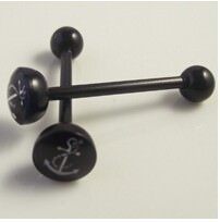 11643-a8d1291fbce5585dbfcd907ab7a51d24 Soft Black Popular Logo Designed Labret Or Body Piercing Jewelry
