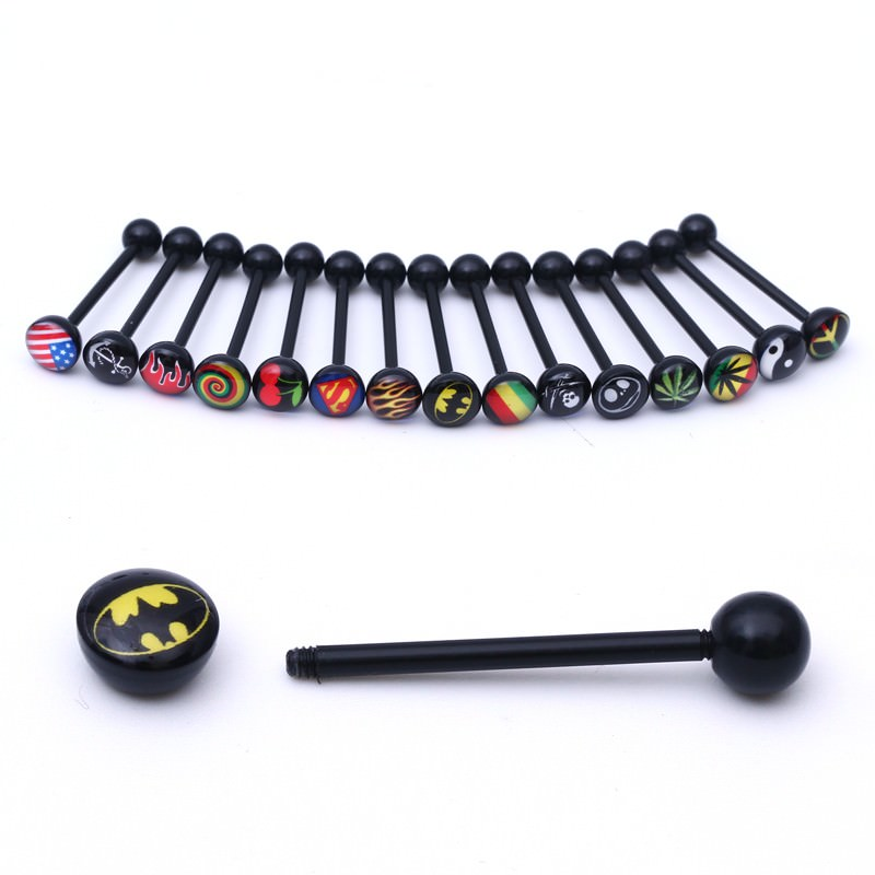 11643-e708c377ed014feb74f816a80b1622ea Soft Black Popular Logo Designed Labret Or Body Piercing Jewelry