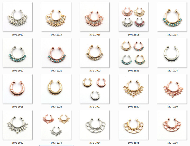 11646-16fe143e3ae89a5a2f34431331dcba2b Hot Sale Variety Of Unique Vintage Fake Septum Jewelry For Women
