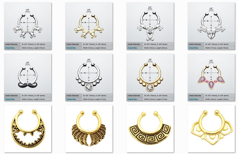 11646-5844a75cd90689d09ed36e4797152461 Hot Sale Variety Of Unique Vintage Fake Septum Jewelry For Women