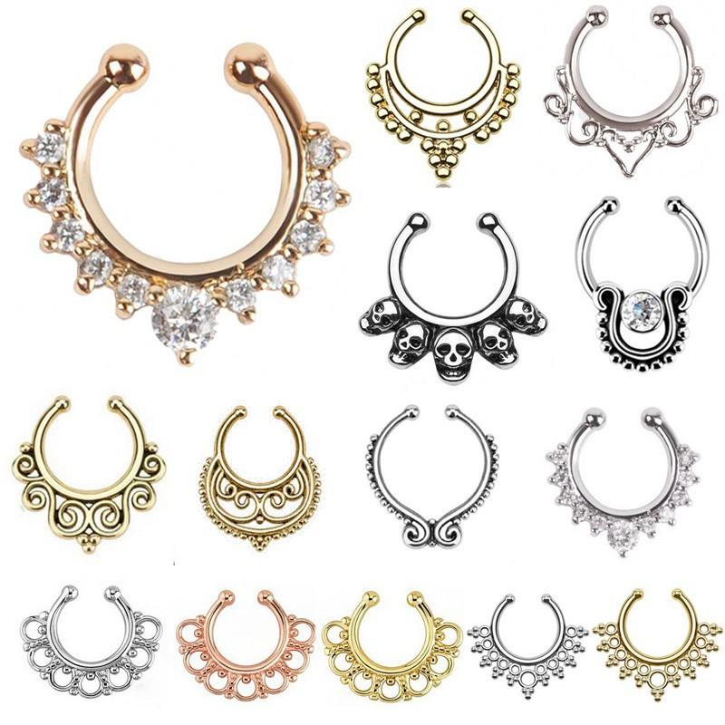 11646-7f6a7c72f9e7655a1faaf4c83ee12bd6 Hot Sale Variety Of Unique Vintage Fake Septum Jewelry For Women