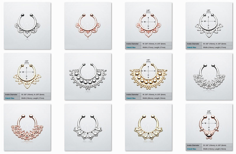 11646-93ad502e3fbfa4d5eeabb7478e690bd8 Hot Sale Variety Of Unique Vintage Fake Septum Jewelry For Women