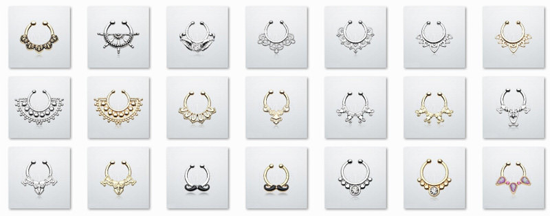 11646-ed1f05beff3fc51a2b7a674833c6e17c Hot Sale Variety Of Unique Vintage Fake Septum Jewelry For Women