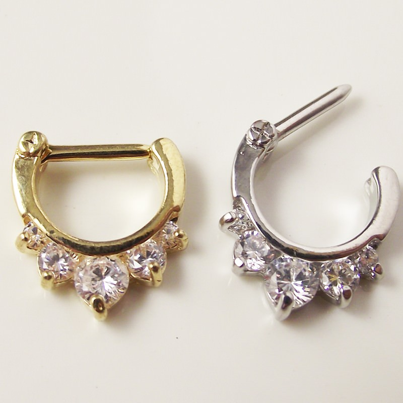 11649-65a8aee0ac5e172473dc23c1eb8a60eb Ornate Gemmed Surgical Steel Crystal Septum Clicker Jewelry For Nose