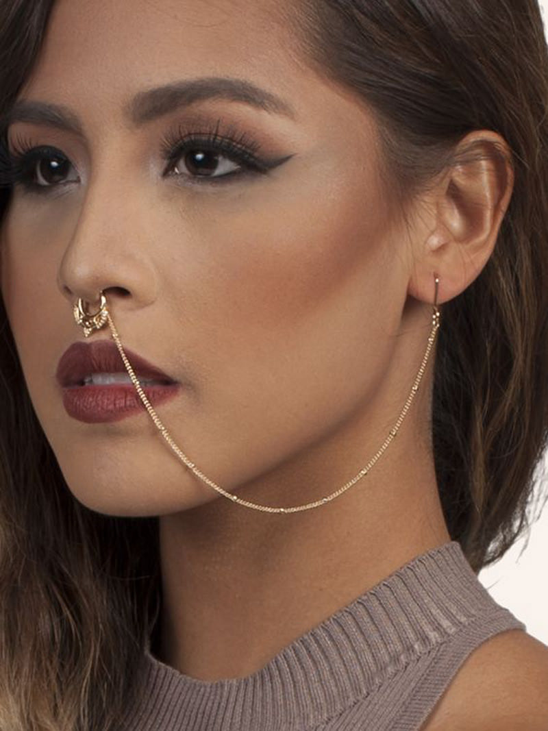 11650-aee535735f48f021ff9fbe108a85836c Exotic Gemmed Nose To Ear Chain With Fake Nose Ring Jewelry