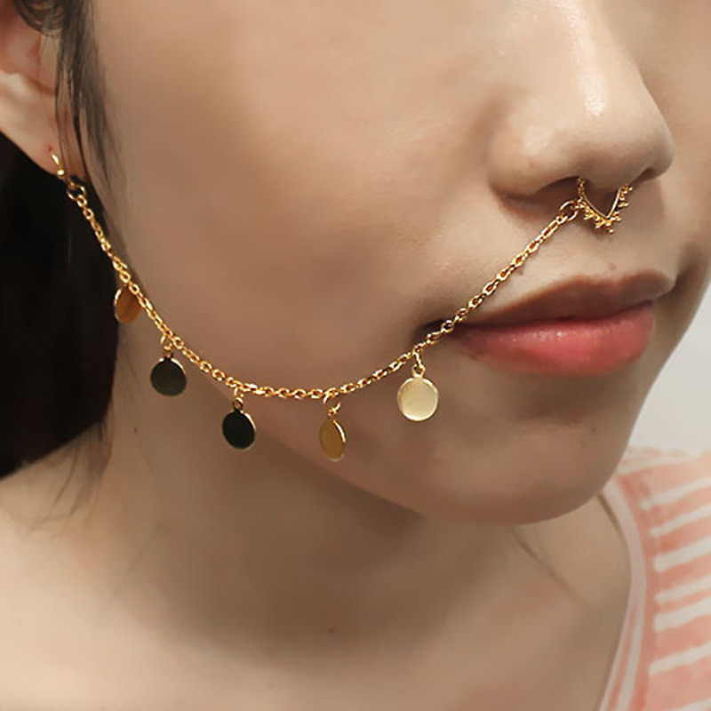 11650-d02e01b0b5b82c4c34d433c1bd4579d3 Exotic Gemmed Nose To Ear Chain With Fake Nose Ring Jewelry
