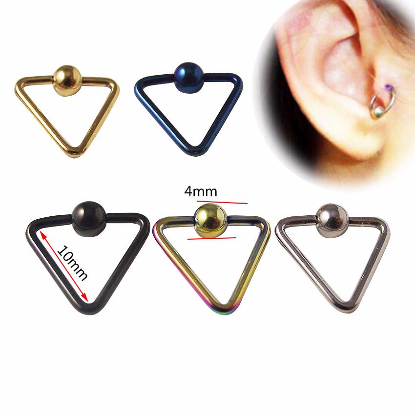 11652-66ce6fe330ab28bc30fa2e53532b6302 Lightweight Trendy Triangle Bead Ring Jewelry For Nose, Lip, Ears & Body