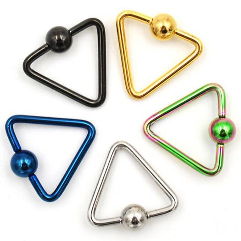 11652-7157f0a0c3f3141b13ecacb3adb22de0 Lightweight Trendy Triangle Bead Ring Jewelry For Nose, Lip, Ears & Body