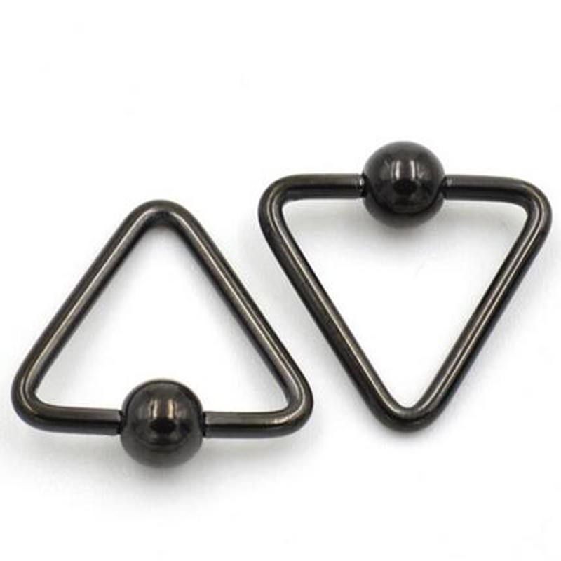 11652-c6d15263867172075f62816fc5cb4923 Lightweight Trendy Triangle Bead Ring Jewelry For Nose, Lip, Ears & Body