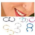 2pcs 0.8mm Vibrantly Colored Nose Hoop Ring Jewelry For Women