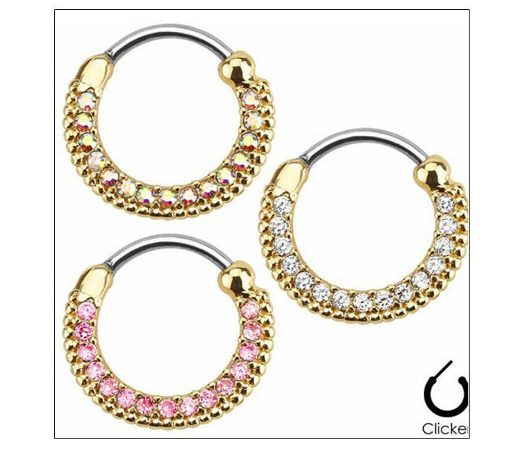 11657-e26f49dc720d43755aecd815c92d5c99 Elegant Crystal Clicker Nose Ring Jewelry For Septum