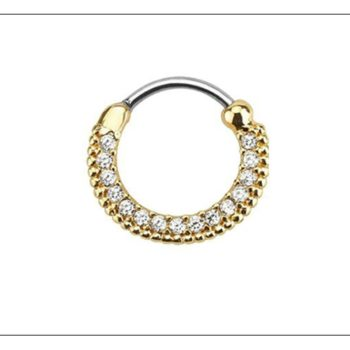 Elegant Crystal Clicker Nose Ring Jewelry For Septum