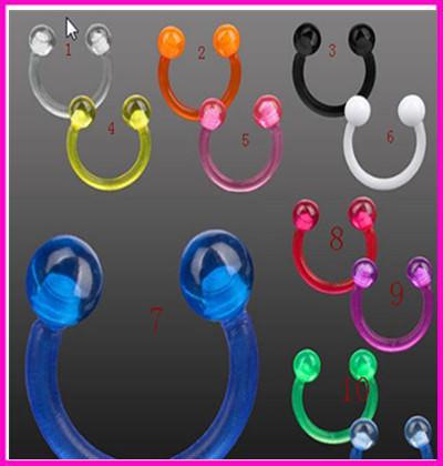 11658-0d2d1bf85c5b2ed299d1f46239b1af7f acrylic Stud Earrings ear clips nose rings wholesale charm body jewelry piercings for men women piercing de septo nariz anillos