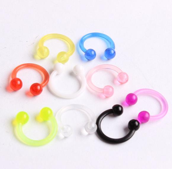 11658-7c7a067d3f4330a8b491477911d410a6 acrylic Stud Earrings ear clips nose rings wholesale charm body jewelry piercings for men women piercing de septo nariz anillos