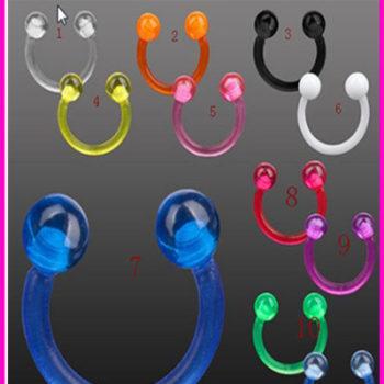 acrylic Stud Earrings ear clips nose rings wholesale charm body jewelry piercings for men women piercing de septo nariz anillos