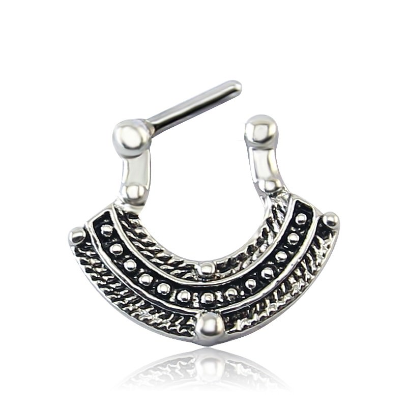 11660-3a7b790ed80dae9217e91002bbcc13d8 1pc Vintage India Inspired Nose Clicker Ring Jewelry For Septum