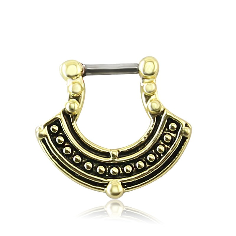 11660-46969487c7f2f16bdaca0d9427dee68f 1pc Vintage India Inspired Nose Clicker Ring Jewelry For Septum