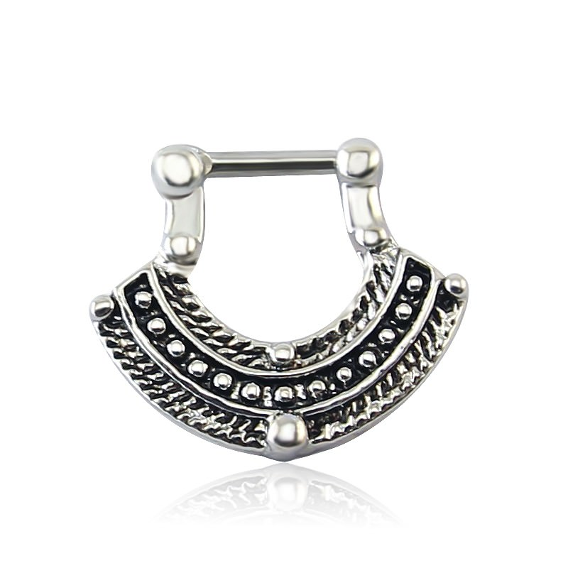 11660-67931ec7ba44a9af4b465cadcad701bc 1pc Vintage India Inspired Nose Clicker Ring Jewelry For Septum