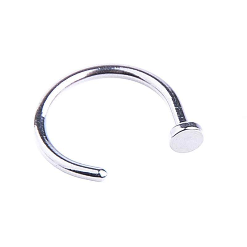 11661-ab36abe330c1d786fef1f92e3b3cecd0 5pcs Surgical Steel Simple Sexy Nose Hoop Jewelry