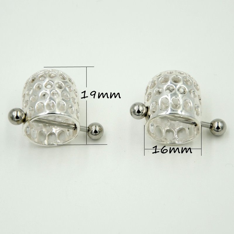 11667-85c4fd2e33385d905d1270de908d9326 BOG-Pair 316L Surgical Steel Jeweled Nipple Cap Jewelry Nipple Shield Nipple Piercing Ring Body Jewelry