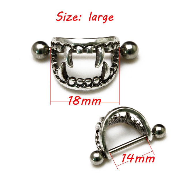 11668-4e08619f2e84a1b3884906898a49d7bd Pierced Boobs Vampire Fang Bite Surgical Steel Nipple Rings