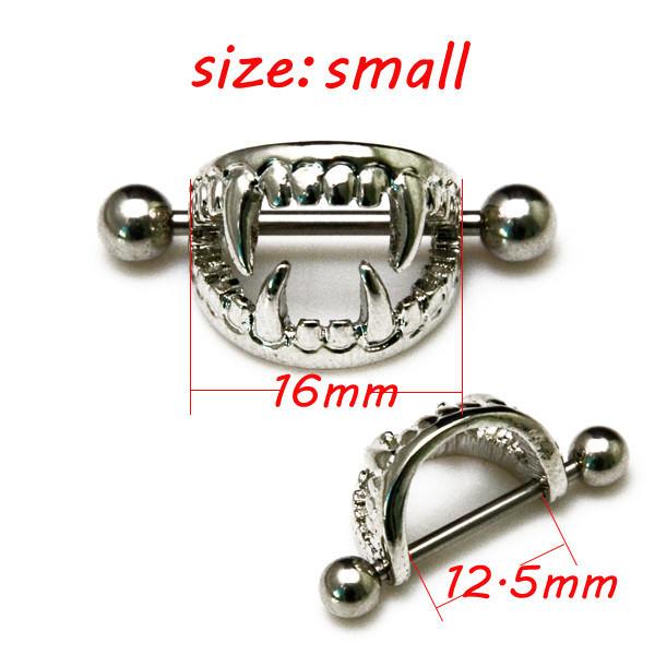 11668-a160dd0536a284cb578a42dc7742c3e3 Pierced Boobs Vampire Fang Bite Surgical Steel Nipple Rings