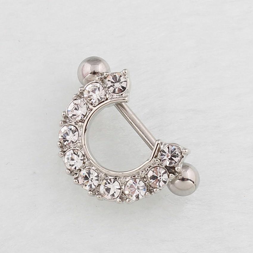 11672-37ebaeef5ebc08d31cddf41d90ef4a3f 2pcs Elegant Semi-Circle  Nipple Body Jewelry With Crystals