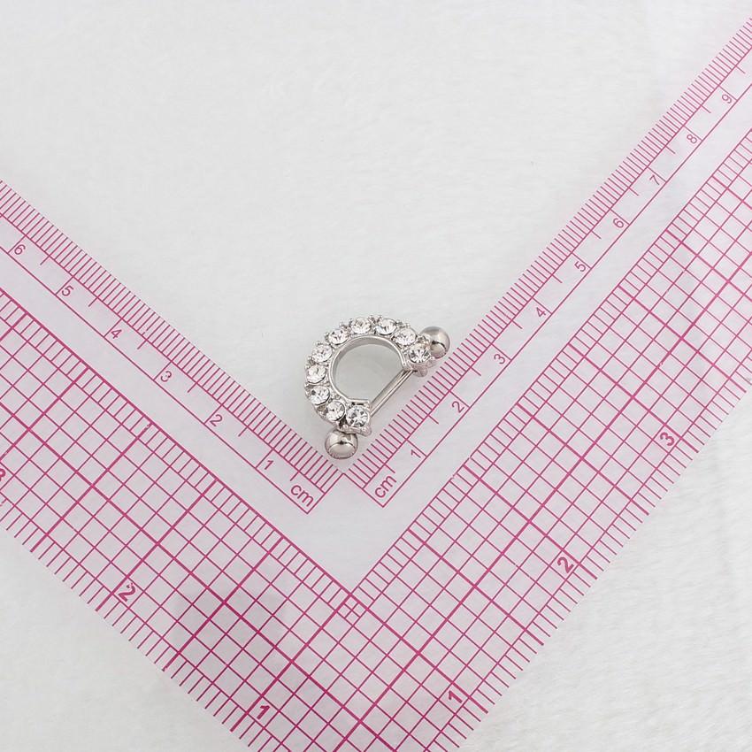 11672-873afe495b1f8f55db0c58a4cfaba4f2 2pcs Elegant Semi-Circle  Nipple Body Jewelry With Crystals